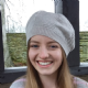 Derwent Striped Jumper Silver & Cherry Blossom